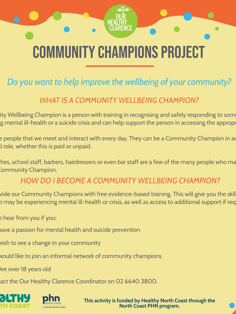 Community Champions Brochure DRAFT 2020
