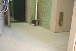 Сухая стяжка Кнауф в коридоре