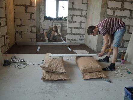 Монтаж сухого пола в Люберцах