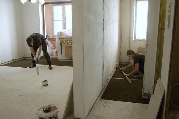 Рабочий процесс в панельном доме