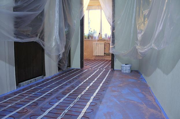Тёплый пол на сухой стяжке Кнауф с гидроизоляцией