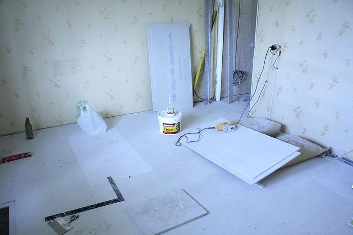 Рабочий процесс монтажа пола Кнауф