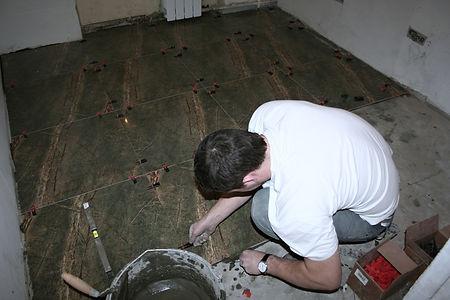 Укладка плитки на пол Кнауф