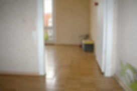 Коридор и комната перед работой