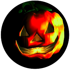 3D interactive pumpkin for Wanda the Wonky Witch Show