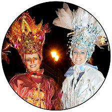 Fire & Ice stiltwalkers