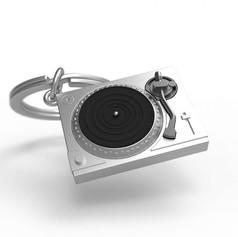 Porte clés Platine Vinyle Argentée