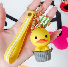 Porte-clés Canard dans Panier