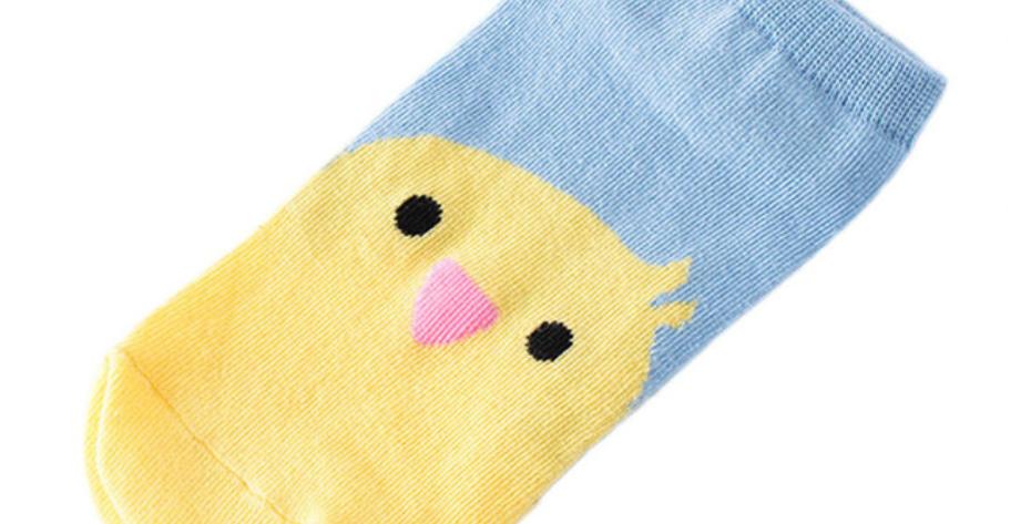 Socquettes Bleues Poussin