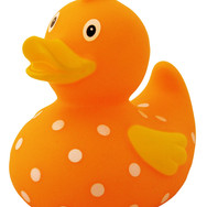 Canard Orange à Pois