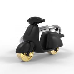 Porte clés Scooter Noir Mat
