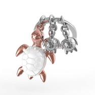 Porte clés Tortue de Mer Rose