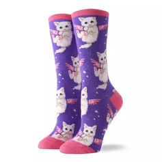 Chaussettes Chat Ailes Roses