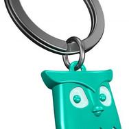 Porte clés Hibou Turquoise