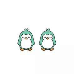 Boucles d'Oreilles Pingouin Vert