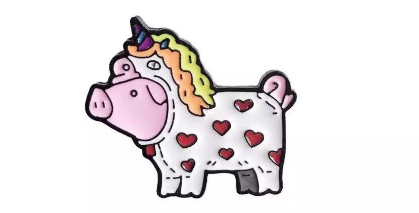 Pins Cochon Déguisement de Licorne