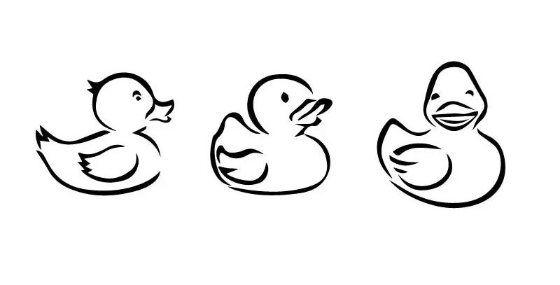 Sticker 3 Bath Ducks