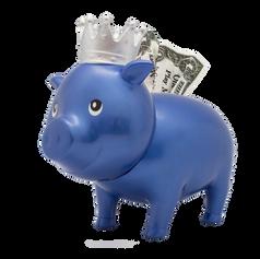 Cochon Diamant Bleu Couronne