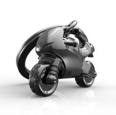 Porte clés Moto Sportive Grise
