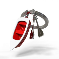 Porte clés Barque Rouge