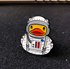 Pins Canard Astronaute