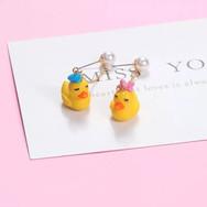 Boucles d'Oreilles Couple de Canards