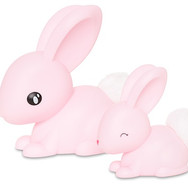 Veilleuse Famille Lapin Rose