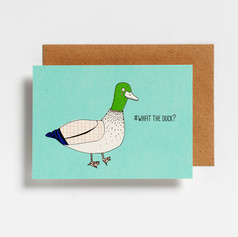 """Carte Postale Canard """"WHAT THE DUCK?"""""""