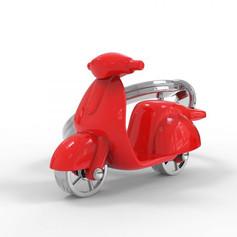 Porte clés Scooter Rouge