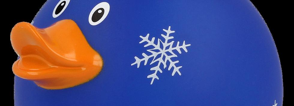 Canard Boule de Noël Bleu