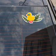 Autocollant Canard Lunettes de Soleil
