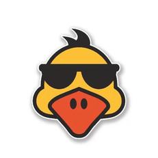 Autocollant Canard à Lunettes