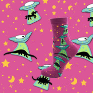 Chaussettes Space Invaders Dino