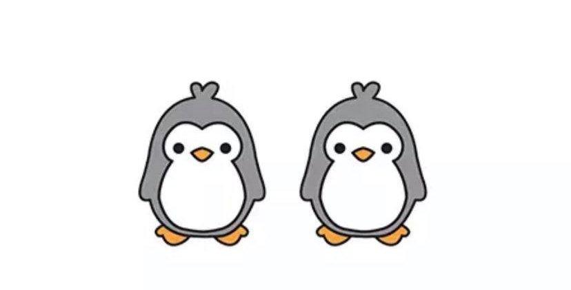 Gray Penguin Earrings