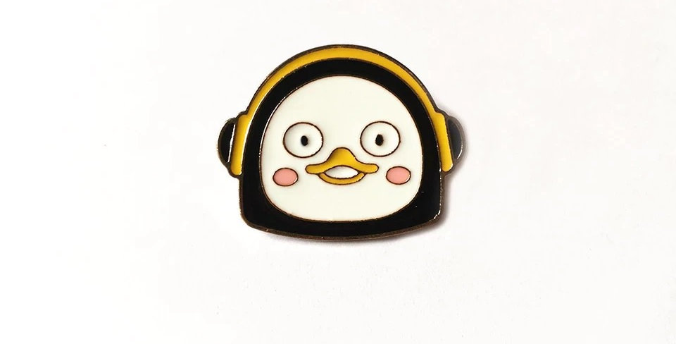 Pins Pingouin Casque Audio