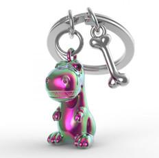 Porte clés Dino Arc en Ciel
