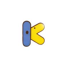 Broche Canard Lettre K