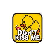 Autocollant Canard Voiture Don't Kiss Me - B.Duck