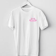 T-Shirt Cygnes Roses