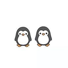 Boucles d'Oreilles Pingouin