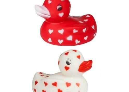 Canard Blanc ou Rouge avec Cœur