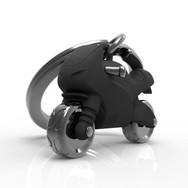 Porte clés Moto Sportive Noire Mate