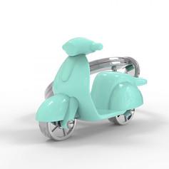 Porte clés Scooter Turquoise