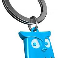 Porte clés Hibou Bleu