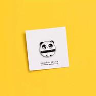 Pins Panda Rond