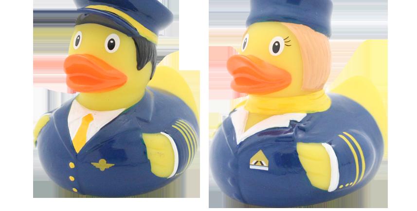 Mini Canard Pilote et Hôtesse de l'Air