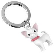 Porte clés Chihuahua Blanc