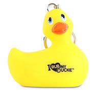 """Porte-clés Canard Jaune """"I Rub My Duckie"""""""