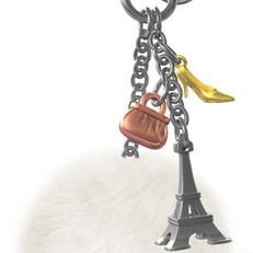 Bijou de Sac Tour Eiffel Argentée