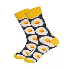 Chaussettes œuf au plat Noires